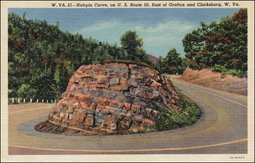 Hairpin turn, Grafton, WV