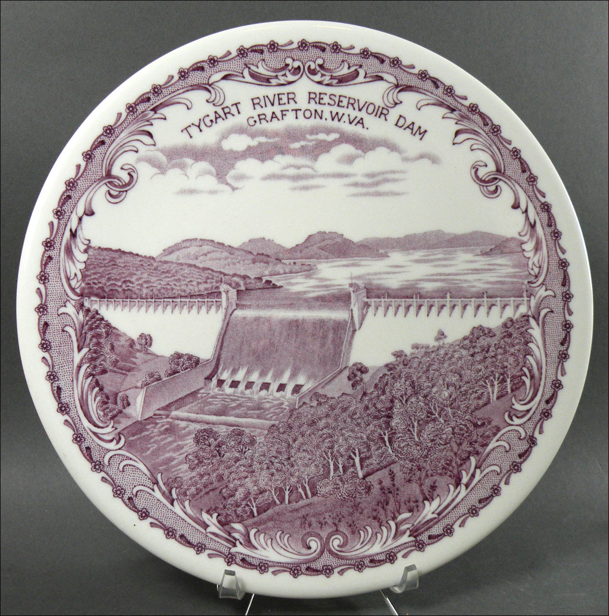 Carr China Lavender Dam Plate